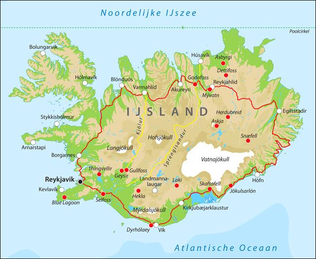 landkaart-ijsland