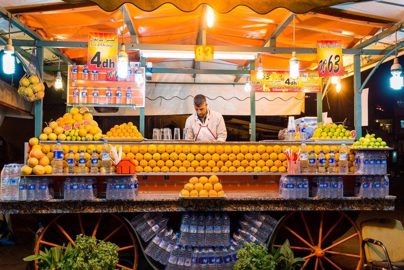 Morocco Orange Juice Marrakech Souks