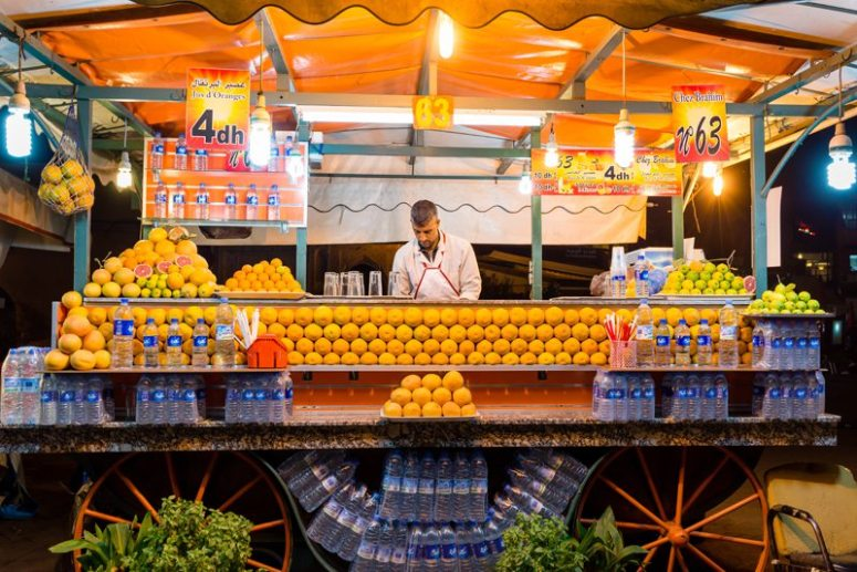 Morocco Orange Juice Marrakech Souks