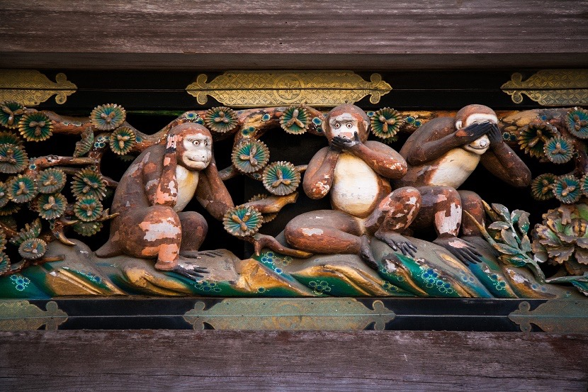 Templo-de-Toshogu-monos